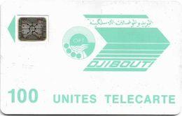 Djibouti - OPT - Light Blue Logo - 100Units, SC4 Afnor, 1991, Cn.24077 (without Frame Around Chip), Used - Djibouti