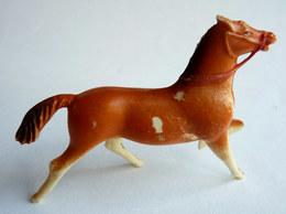 Figurine CYRNOS Far West COWBOY CHEVAL Marron Type3 Sans Selle 60's Pas Starlux Clairet - Starlux