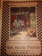 Aux 100.000 Paletots Caudry Nord Fable De La Fontaine Le Laboureur Et Ses Enfants - Textile & Vestimentaire