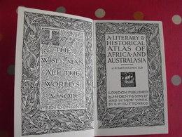 A Literary & Historical Atlas Of Africa & Australia. Bartholomew. Dent, London, 1912 - Histoire