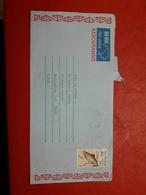 La Nouvelle-Zélande Un Aérogramme Circulé Avec Timbre De Poissons - Poste Aérienne
