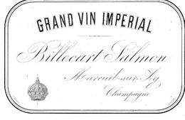 GRAND VIN IMPERIAL  BILLECART  SALMON - Champagne