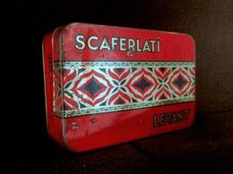 Boite Tole Lithographiée SCAFERLATI LEVANT Cigarette Tabac Tobacco Tabak  Ca 1930 ! - Contenitori Di Tabacco (vuoti)