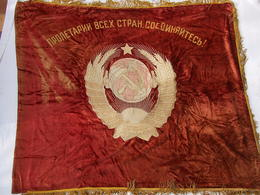 DRAPEAU #2 URSS SOVIET COMMUNISME PROPAGANDE LENINE FLAG USSR LENIN - Flags
