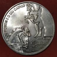 1.000$00 -2000-SILVER-O HOMEM E O SEU CAVALO-SÉRIE IBERO-AMERICANA «REPÚBLICA PORTUGUESA» - Portugal
