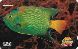 Malaysia (Uniphonekad) - Blue Fish, 14MSAB, 1992, 2.600.000ex, Used - Malaysia