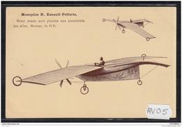 1461 AV05 CPA CP AK MONOPLAN R. ESNAULT PELTERIE TTB NON CIRCULER - Aviatori
