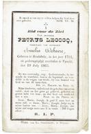 Doodsprentje - PETRUS  LECOCQ - Geb Meulebeke 1794 - Overleden Vynckt 1865 - Religion & Esotericism