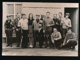 ZAFFELARE 1973 FOTO 17 X 13 CM  SCHUTTERSKONING IN ZAAL MODERNE  JULES UYTTENDAELE - Lochristi