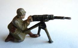 FIGURINE EN ALUMINIUM QUIRALU WWII SOLDAT US MITRAILLEUR MITRAILLEUSE - Quiralu