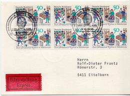 Postal History: Germany Stamps On Express Card - Wines & Alcohols