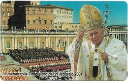 Vatican - Concistoro 2001 Pope - 5.000V₤, 05.2001, 10.000ex, Mint - Vaticano (Ciudad Del)