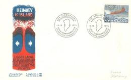 Greenland 1973; FDC Michel 86 - Volcanic Eruption Heimaey. (F.N.) - FDC