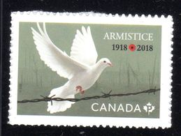 CANADA  2018 #    100th ANNIVERSARY Of ARMISTICE Single - Carnets