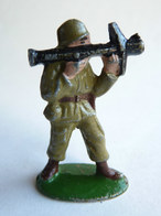 FIGURINE EN ALUMINIUM QUIRALU WWII SOLDAT US BAZOOKA - Quiralu