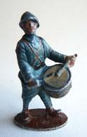 FIGURINE QUIRALU Soldat CASQUE ADRIAN BLEU TAMBOUR (3)- ALUMINIUM - Quiralu
