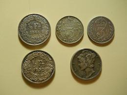5 Silver Coins - Vrac - Monnaies