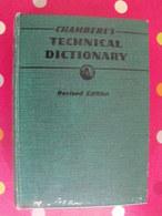 Chamber's Technical Dictionary. Tweney, Hughes. 1945 - Language Study