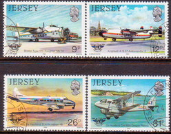 JERSEY 1984 SG #340-43 Compl.set Used Int.Civil Aviation Organization - Jersey