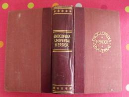 Enciclopedia Universal Herder. Barcelona 1954. Dictionnaire En Espagnol - Dizionari