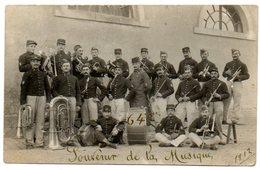 44 - Loire Atlantique / Carte Photo Militaire : ANCENIS, Souvenir De La Musique, 64 ème, 1912. - Ancenis