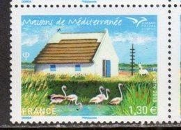 FRANCE , 2018, MNH, EUROMED, HOMES, HOUSES, BIRDS, HORSES, 1v - Architecture