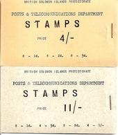 SOLOMON ISLANDS, 1959, Booklet 1/2, 4/-, 11/-, Stapled At Right - Isole Salomone (1978-...)