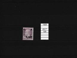 FRANCE TIMBRE N°251  N**  COTE 120€  A VOIR - France