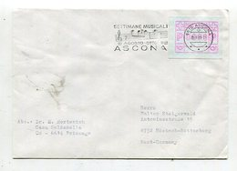 Schweiz / 1981 / Brief Automatenmarken-Frankatur, Masch.-Stempel ASCONA (25524) - Automatenmarken