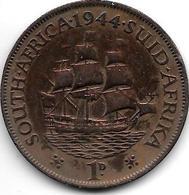 South Africa  1 Penny 1944 Km 25  Vf - Afrique Du Sud