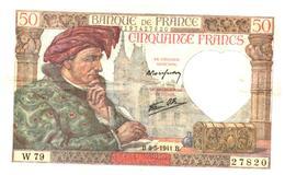 Billets > France > 50 Francs 1941   Peu Commun 2 Alphabets - 1871-1952 Anciens Francs Circulés Au XXème