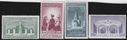 Yuguslavia      .      Yvert    .    389/392     .    *    .    Ungebraucht Mit Falz    .   /    .     Mint-hinged - 1931-1941 Royaume De Yougoslavie