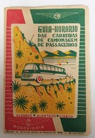 ALGARVE / ALENTEJO - GUIA TURISTICO-«Guia Honorario Das Carreiras De Camionagem De Passageiros - Livres Anciens