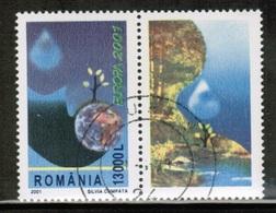 CEPT 2001 RO MI 5573 Zf ROMANIA USED - Europa-CEPT