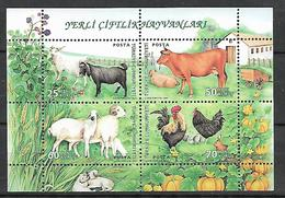 TURKEY 2007 Sc#3050 World Enviroment Day, Domestic Animals, Miniature Sheet MNH LUX - 1921-... Republic