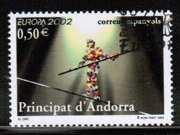 CEPT 2002 AD ES MI 290 ANDORRA SPAIN USED - 2002
