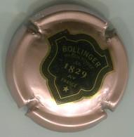 CAPSULE-CHAMPAGNE BOLLINGER N°50 Rosé Pâle Ecusson Contour Or, Verso Or - Bollinger