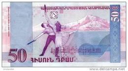 ARMENIA 50 Dram P 41 1998 UNC Music, Ballet - Arménie