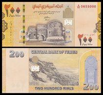 Yemen 200 Rials 2018 Pick New Design SC UNC - Yémen