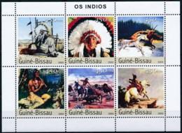 NB - [402404]Guinée-Bissau 2003 - Les Indiens, Chevaux, Histoire - Indiens D'Amérique
