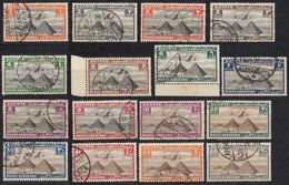 EGITTO - 1933/1938 - Posta Aerea, Serie Completa Usata Yvert 5/24,  21 Valori. - Luftpost