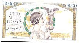 Billet  >  France > 5000 Francs 1942 - 5 000 F 1934-1944 ''Victoire''