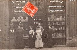 """CARTE PHOTO """"IMPRIMERIE PAPETERIE """"1920 - Lyon"""