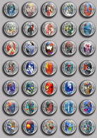 Marc Chagall Painting Fan ART BADGE BUTTON PIN SET 2 (1inch/25mm Diameter) 35 DIFF - Pin