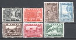 Malaya Kedah 1960 Mi 95-101 MNH - Kedah