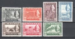 Malaya Perlis 1957 Mi 29-35 MNH - Perlis