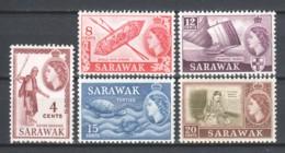 Malaysia Sarawak 1964 Mi 190-192-194-195-196 (wmk 4) MNH - Maleisië (1964-...)