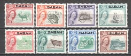 North Borneo Sabah 1964 Mi 1-10 MNH - Malaysia (1964-...)