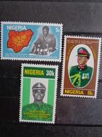 NIGERIA 1977  ** - GENERAL MUHAMMED, 3 VALEURS - Nigeria (1961-...)