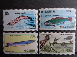 NIGERIA 1983  ** - PECHES , 4 VALEURS - Nigeria (1961-...)